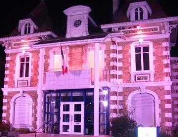 andernos mairie en rose