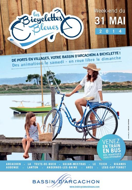 affiche bicyclettes bleues