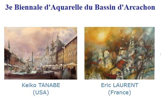 biennale aquarelle le teich deux peintres