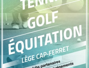 affiche tennis golf equitation