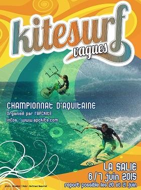 affiche kitesurf vagues