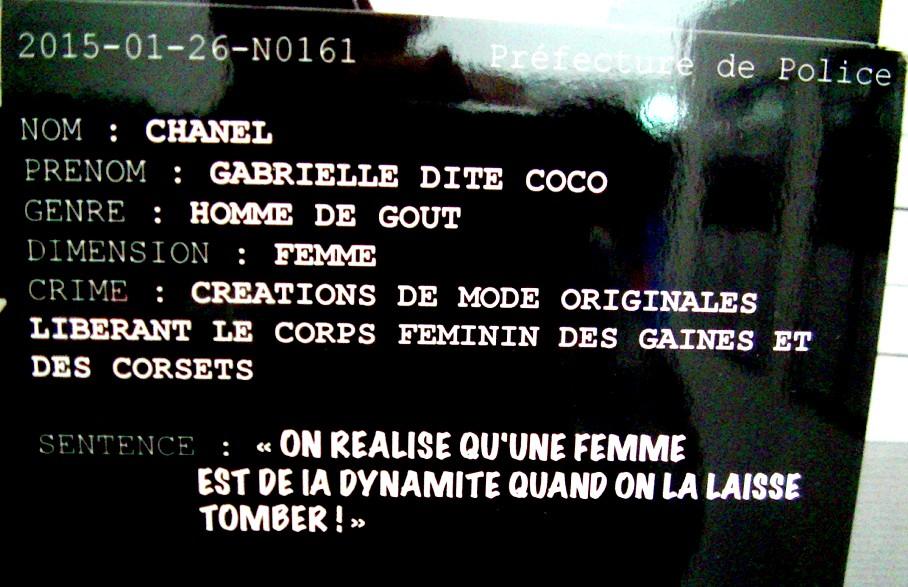 Légende de la photo de Coco Chanel