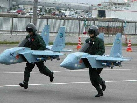 defile en courant avions