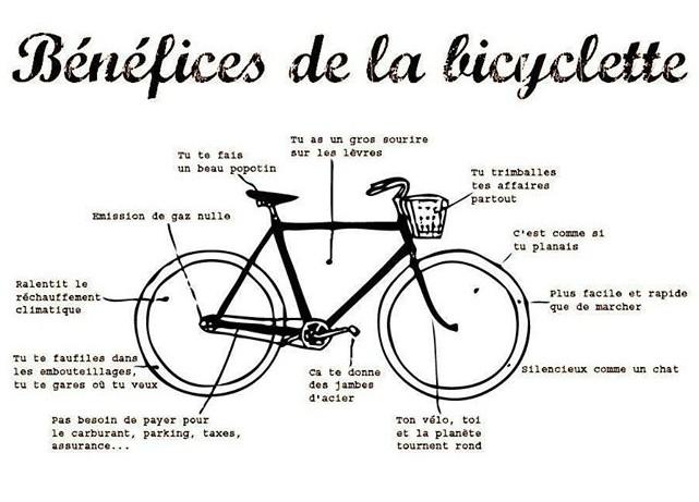 benefices de la bicyclette