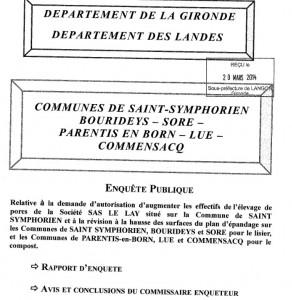 rapport commissaire enquerteur