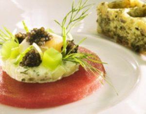carpaccio de thon caviar