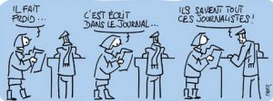 froid journalistes