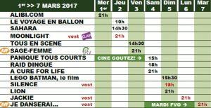 programme cine biganos 1 03 17