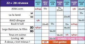 programme cine rex 22 02 17