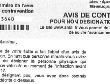 siret contravention gros plan