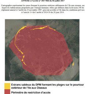 carte ile aux oiseaux acces kayak