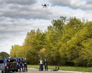 controle gendarmes drone