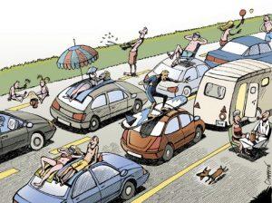 bouchons vacances sur la route