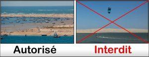 kite arguin autoise interdit