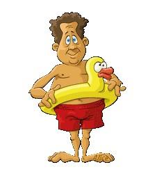 nageur canard