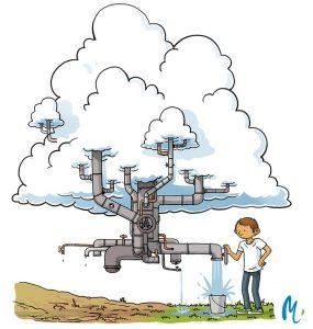 eau nuages usine