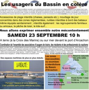 manif usagers bassin