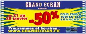 promo grand ecran 50%