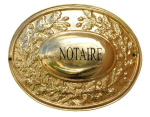 notaire plaque dinse