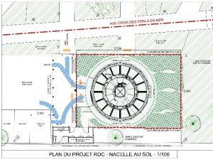 tour port arcachon plan de masse