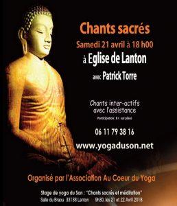 cahnt sacrés yoga lanton