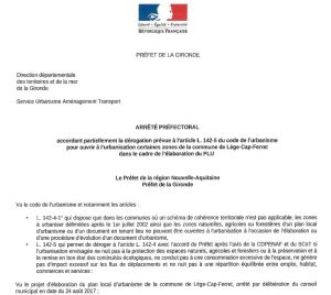 refus derogation arrete prefectoral lege 04 18