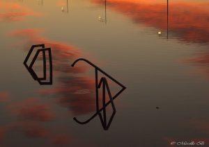 mireille bleriot reflet feraille sur eau rouge