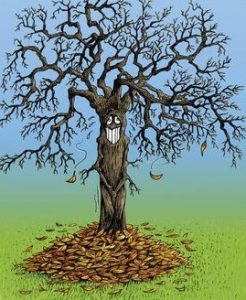 ludivine automne arbre nu