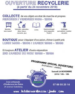 ouverture recyclerie