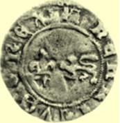 SHAA monnaie liard au léopard sommé d'un lys de France d'Henri 4