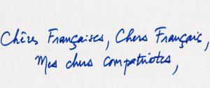 banniere lettre macron manuscrit
