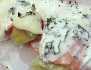 lyselotte poireau bechamel saumon