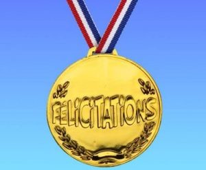 medaille felicitations