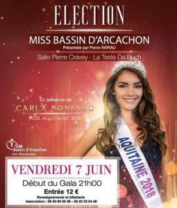 affiche election miss bassin 2019