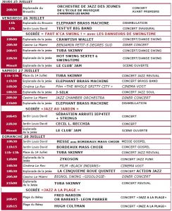 Andernos jazz 2019 Programme