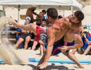lutte sur le sable la teste