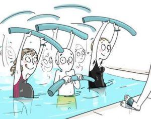 sport aqua gym rentree