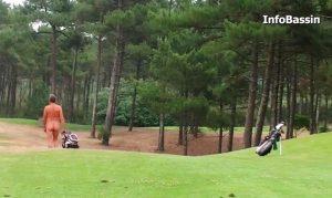 vue golf et golfeur