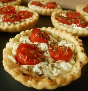 tartelette chevre tomates