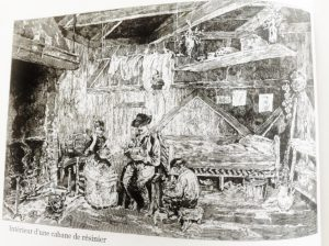 interieur cabane resinier foret arcachon