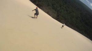snowboard sur la dune pilat