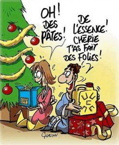 noel cadeaux essence pate