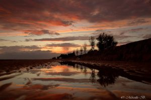Mireille Bleriot plage soleil couchant