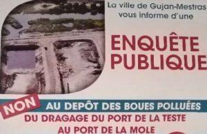 affiche non aux boues enquete publique port de la teste gujan a mole