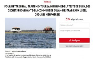 petition reponse la teste a gujan