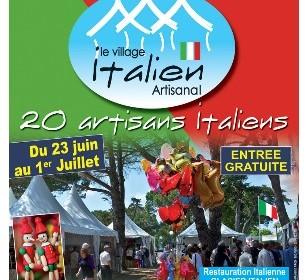 affiche village italien