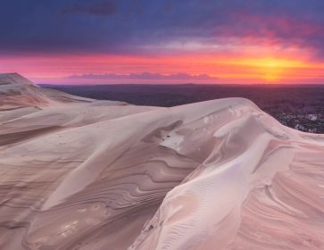 Viala dune sunrise apres marcel