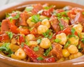 lyselotte salade pois chiches chorizo
