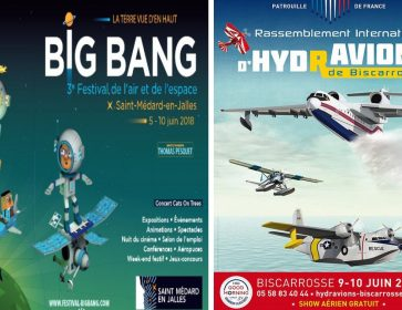 affiches festival big bang et RIH Biscarrosse