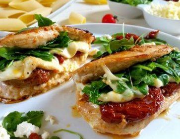 Recette facile (et revigorante…) : Filets de poulet farcis sur lit de roquette Par Lyselotte 19/1/19 Voici un plat facile à...